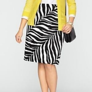 Talbot's Zebra Print Pencil Skirt 14 NWT